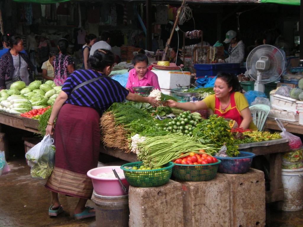 Маркет в Лаосе