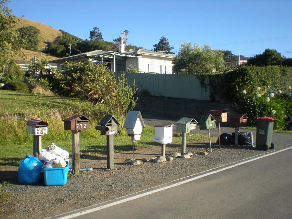 почтовые ящики в Новой Зеландии
