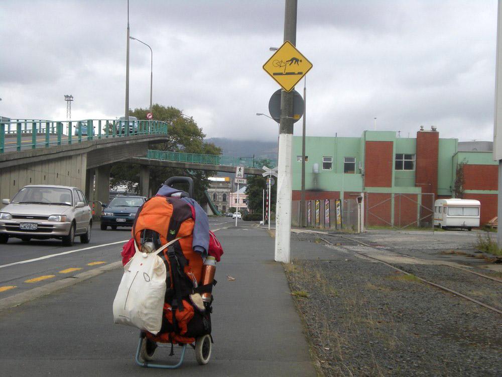 тележечка с рюкзаком