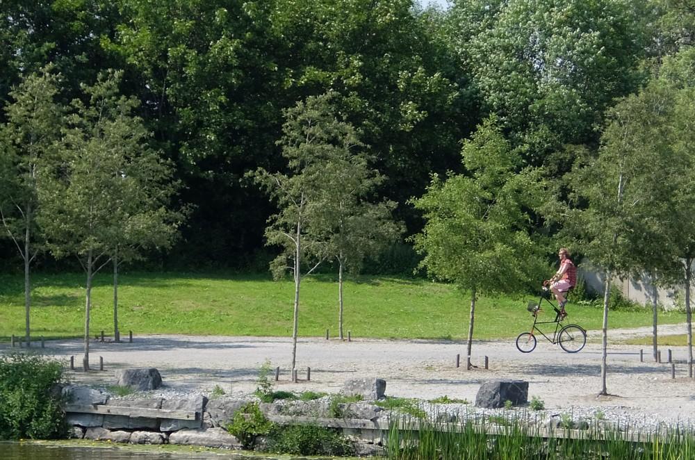 парк, Швеция, Вестерос. необычный велосипед