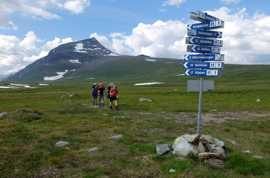 указатели на севере Швеции
