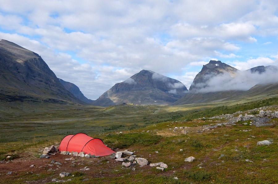 палатка у Кебнекайсе